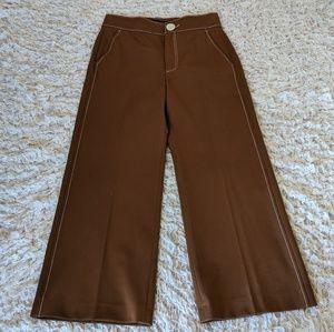 Zara High Rise Crop Pants